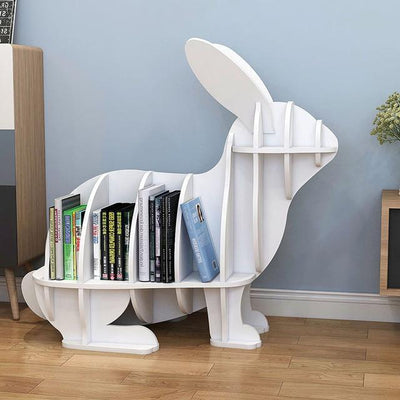 Rabbit Bookcase - white-S - Decorative Objects