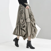 RACHAEL - Plaid Asymmetrical Skirt - women's clothing
