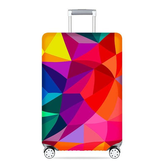 Rainbow Colors Luggage Cover - J / S - Luggage covers
