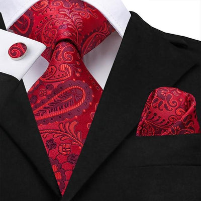 Red Paisley Tie - Men's Ties