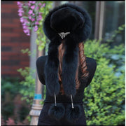 RITNA - Princess Fox Fur Hat - Women's Hats