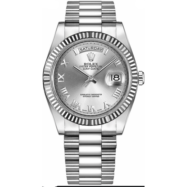 Rolex Day-Date 40 Stainless Silver Roman Dial - Men's