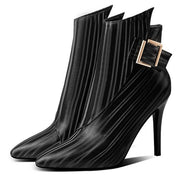 Rosalie Ankle Boot with Side Buckle - Black / 7.5 - women's