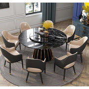 Round High-End Marble Italian Dining Table - Kitchen