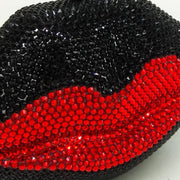 Ruby Red Lip Crystal Clutch Bag - Women's Bags