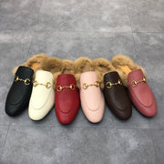 Shearling-Lined Leather Loafers - WOmen's shoes