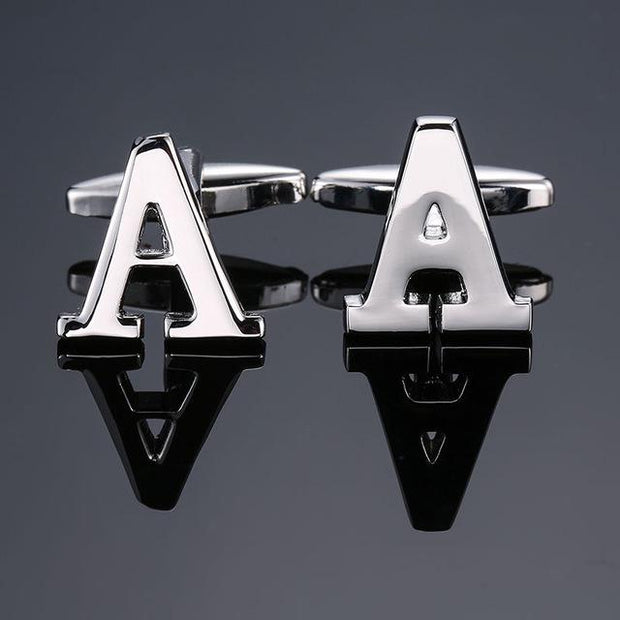 SILVER PERSONALISED CUFFLINKS - A - Cuff Links