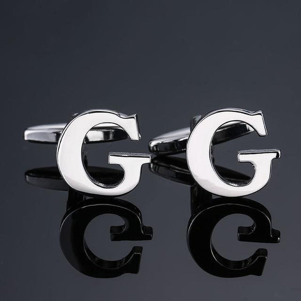 SILVER PERSONALISED CUFFLINKS - G - Cuff Links