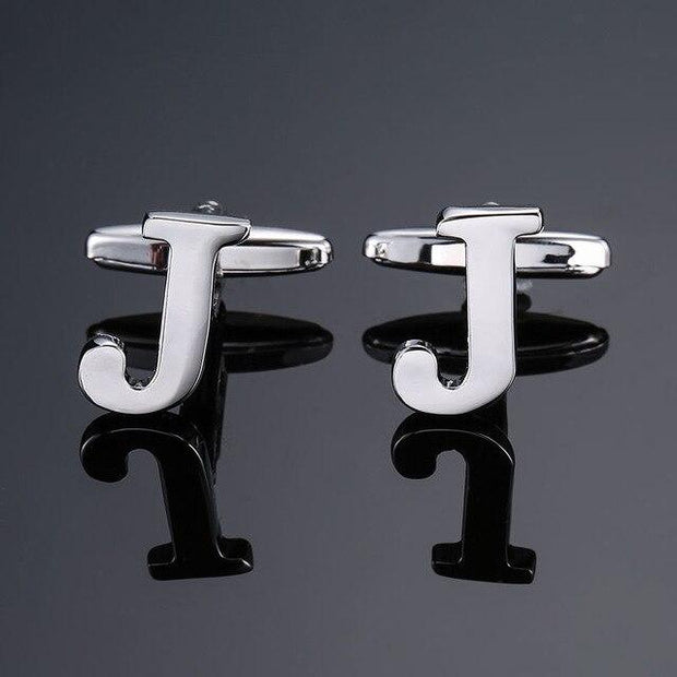 SILVER PERSONALISED CUFFLINKS - J - Cuff Links