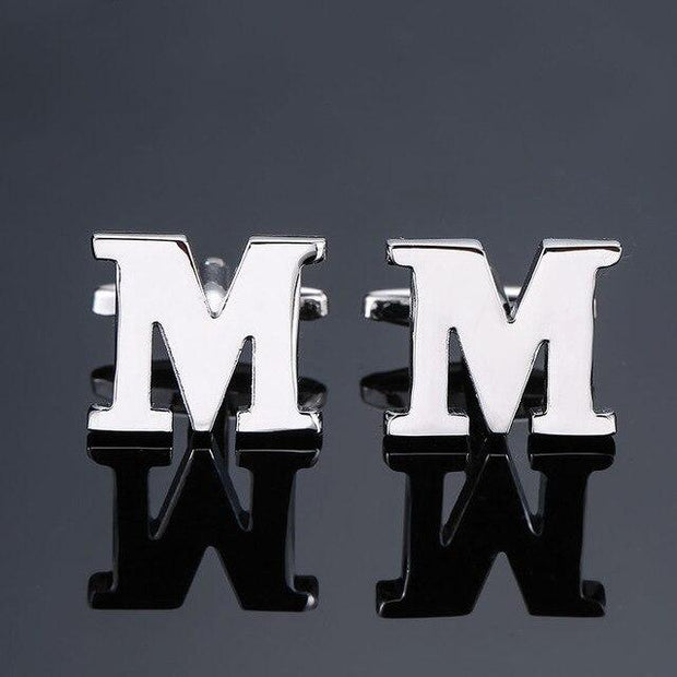 SILVER PERSONALISED CUFFLINKS - M - Cuff Links