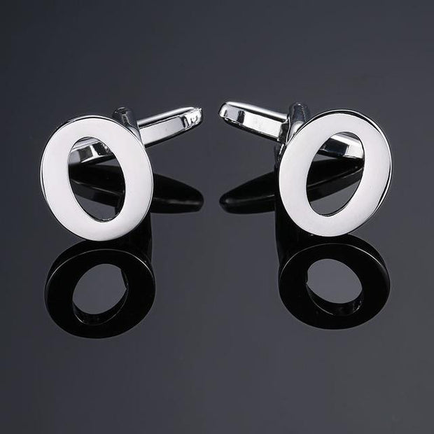 SILVER PERSONALISED CUFFLINKS - O - Cuff Links