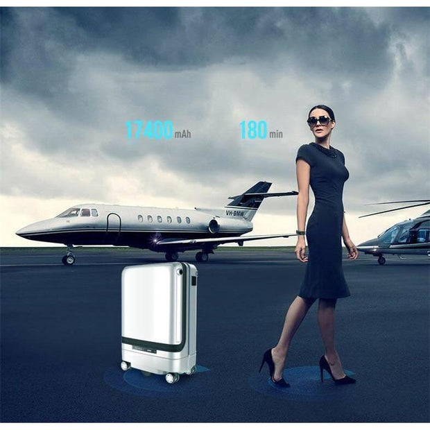 Smart Remote Controlled Luggage-Charcoal - Suitcases