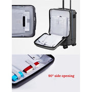 Smart Remote Controlled Luggage-Silver - Suitcases