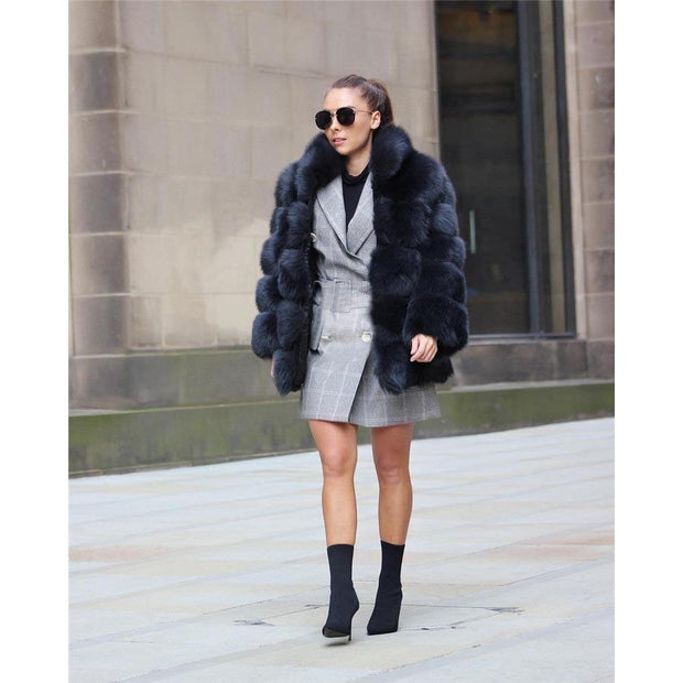 SMOKIE - Genuine Fox Fur Coat - WOMEN'S COATS