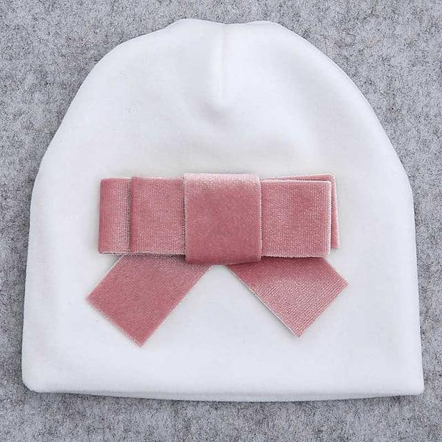 Soft Velvet Newborn Hat - children's winter hats