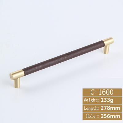 Steinway Leather Barrel T-Bar Drawer Pulls - C-1600-256brown