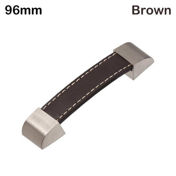 Steinway Leather Strap Drawer Handle - S96BROWN - door pulls