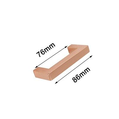 Steinway Square Drawer Pull - Rose Gold - Hole space 76mm -