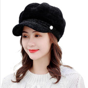 Tara Faux Fur Newsboy Cap - Winter Hats