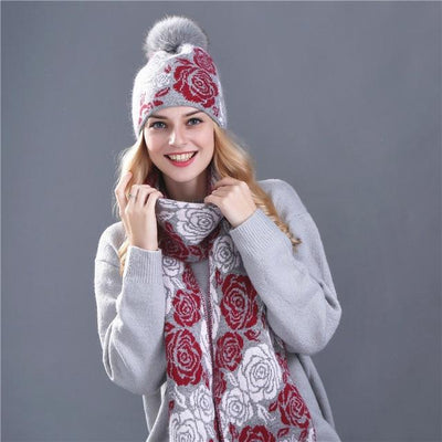 Tara Knitted Hat and Scarf set - Women's Winter Hats