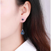 Tear Drop Crystal Earrings - Women's Earrings