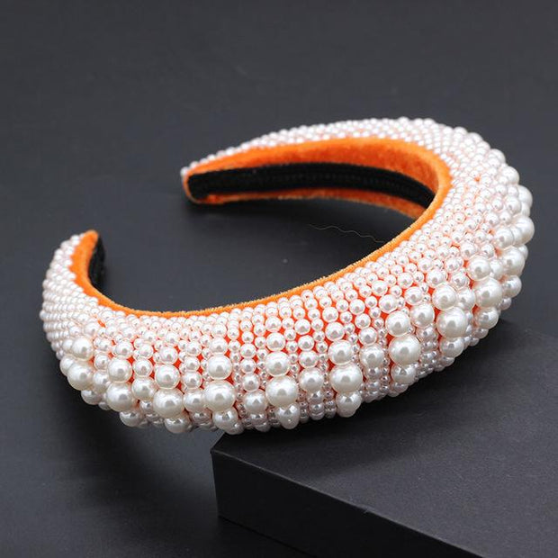 The Charlotte Crown Halo - Orange - Hair Jewelry