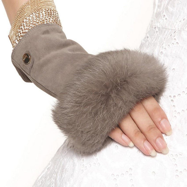 The Senator Gray Fingerless Gloves - fingerless gloves