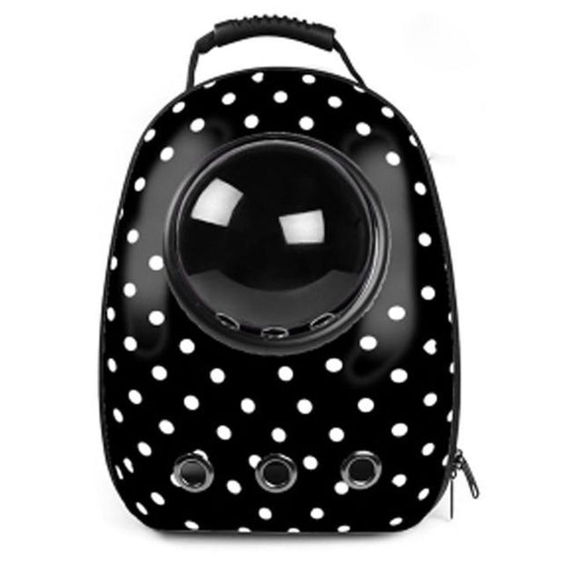 The Space Capsule Backpack - Dot Black / M - Pet Carrier and