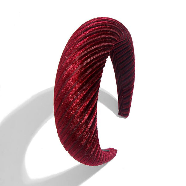 Velvet Padded Headbands - 82Wine - Hair Jewelry