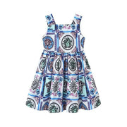 VENSA - Floral Print Cotton Dress - girls dresses