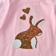 VIKITA - Reversible Sequin Bunny Playdress - children's