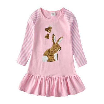 VIKITA - Reversible Sequin Bunny Playdress - RELH0330 / 4 -