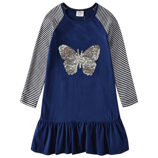 VIKITA -Reversible Sequin Butterfly Playdress - RELH0380 / 7