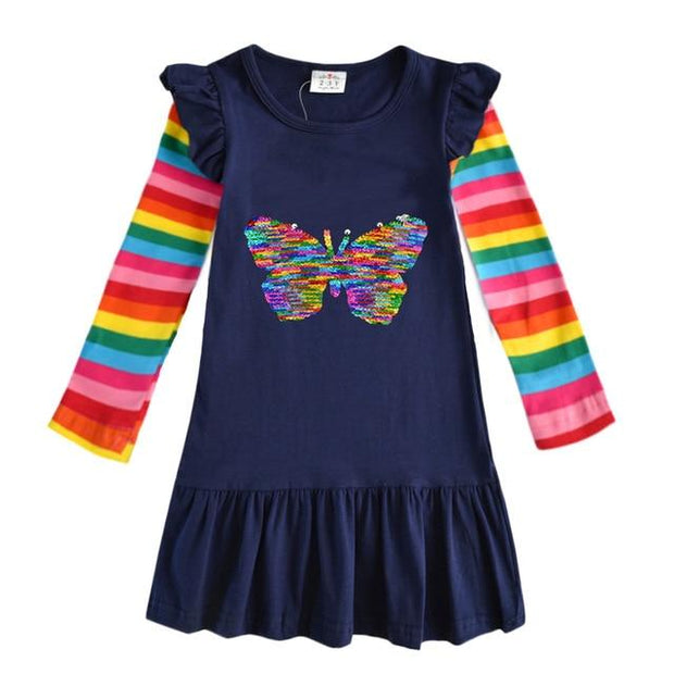 VIKITA -Reversible Sequin Butterfly Playdress - RELH5880 /