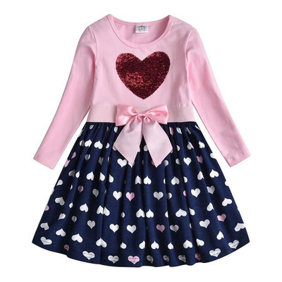 VIKITA -Reversible Sequin Heart Playdress - RELH5740 / 3T -