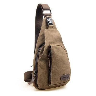 Vintage Canvas Coffee Sling Bag - Men's Sling Bags