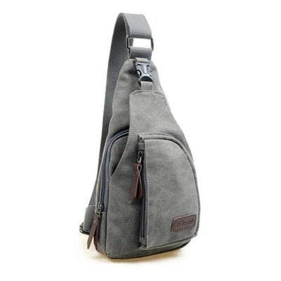 Vintage Canvas Gray Sling Bag - Men's Sling Bags