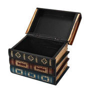 Vintage Wooden Books Storage Box - Pattern B/ Large -