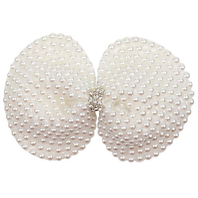 White Pearl Hair Bow - girls hair accessories