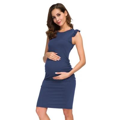 William Hendry - Side Ruched Maternity Dress - as the pic 1
