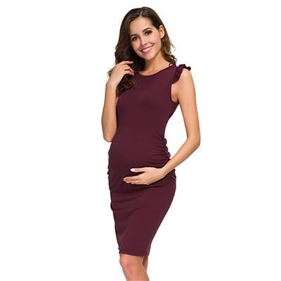 William Hendry - Side Ruched Maternity Dress - as the pic 2