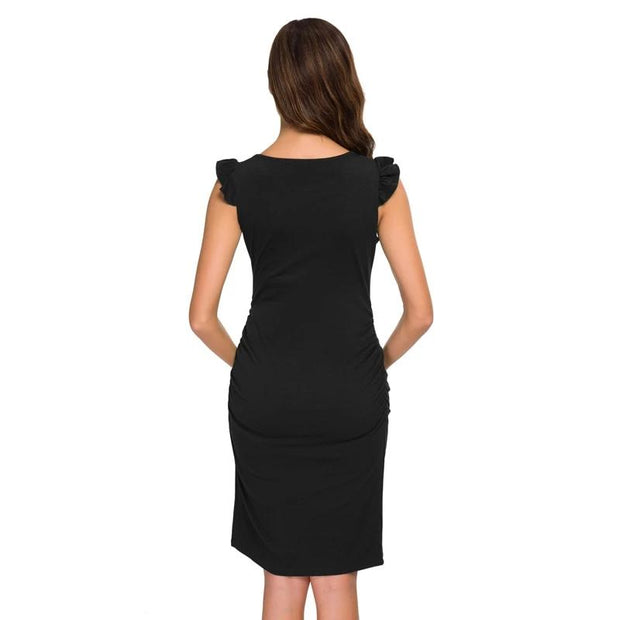 William Hendry - Side Ruched Maternity Dress - women's