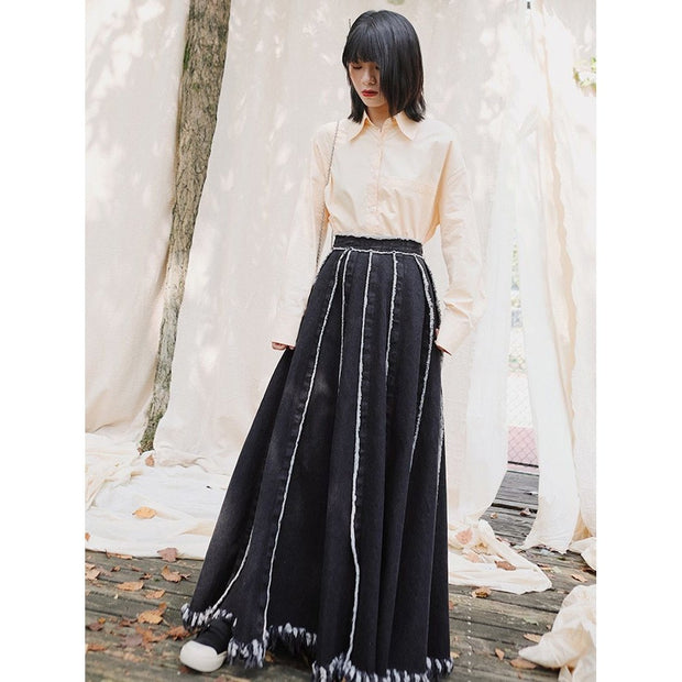 WINSLOW - High Waist Denim Skirt - women's skirts