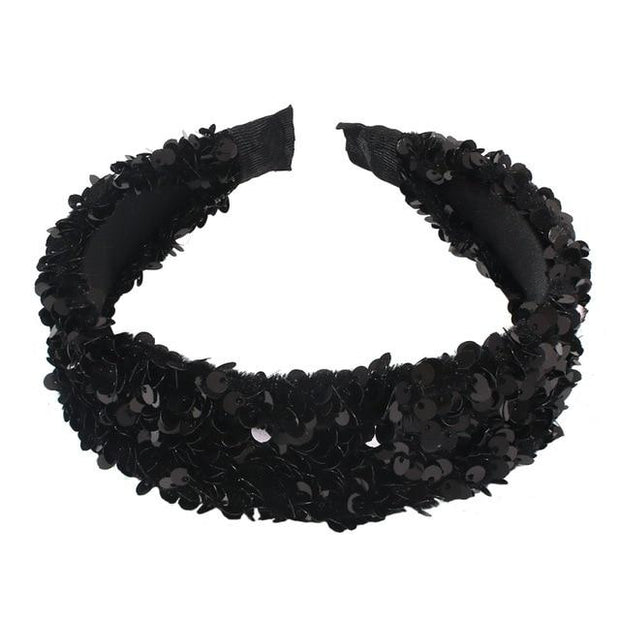 Women's Black Sparkly Headband - Hair Jewelry