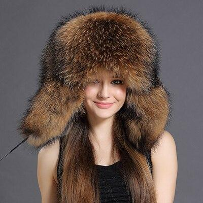Women's Grand Raccoon Fur Russian Hat - Women's Winter Hats