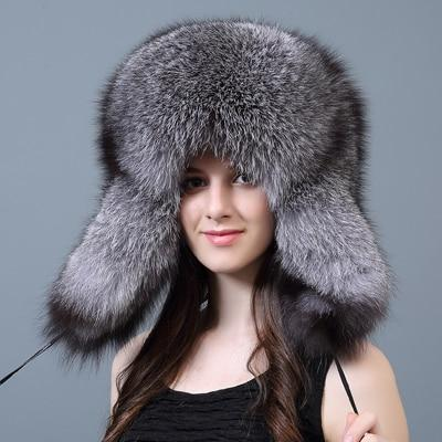 Women's Grand Silver Fox Russian Hat - Women's Winter Hats