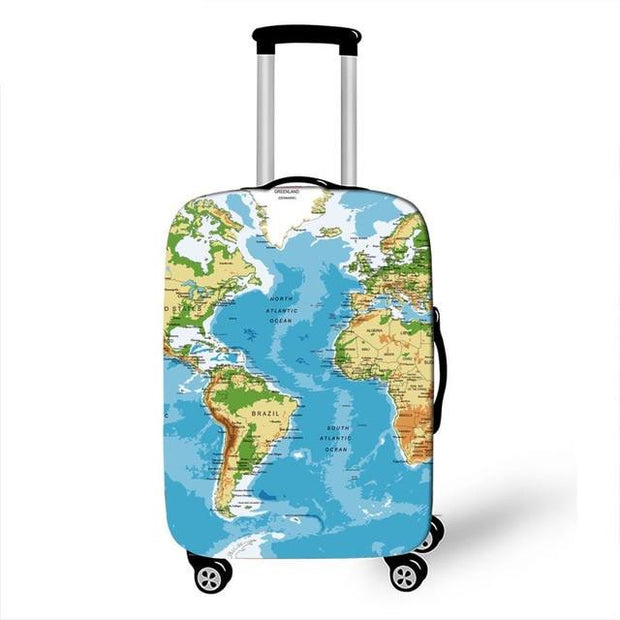 World Map Luggage Cover - 1 / L - Luggage covers