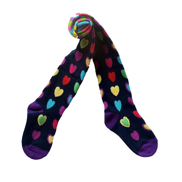 Wren and Bear Multi-Colored Tights - girls tights