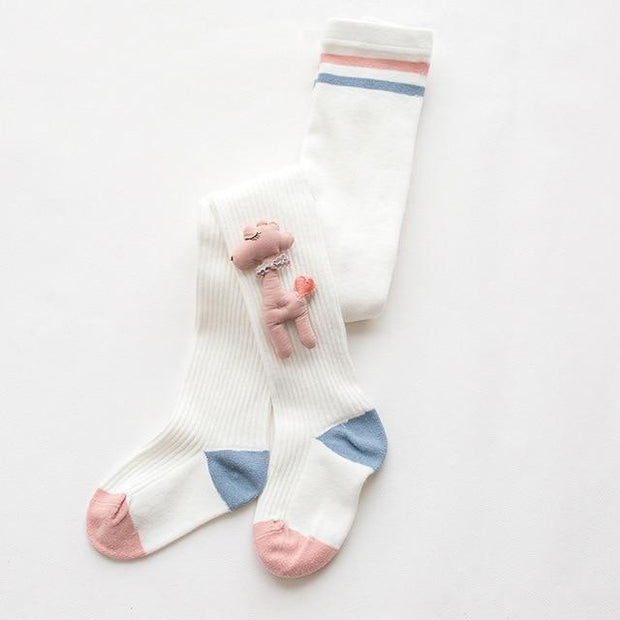 Young Stars Little Lamb Tights - White / 5-8T - Children's