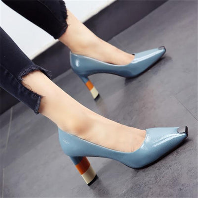 ZOEY - Multicolor Heel Shoes - Blue / 6 - women's Shoes